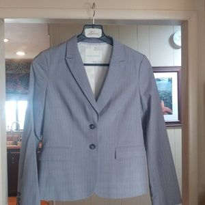 Banana Republic pinstriped suit